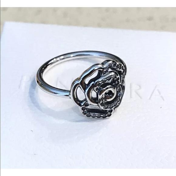 7143da69b Pandora Jewelry   Delicate Shimmering Rose Cz Ring 190949cz   Poshmark